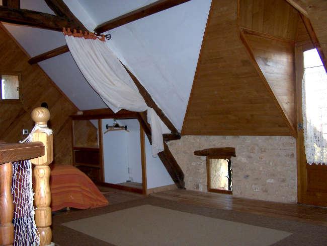 Pré Le Terme, la chambre mezzanine, au Buisson de Cadouin