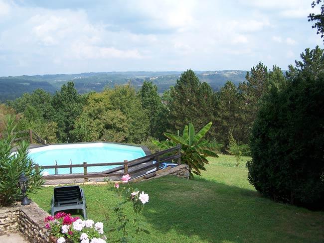 Pré Le Terme, extérieur panorama piscine, au Buisson de Cadouin
